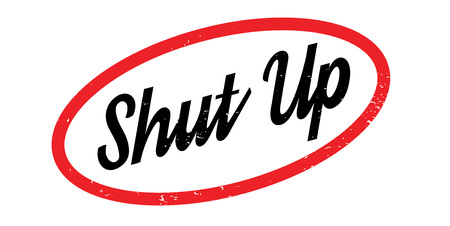 silent: Shut Up rubber stamp
