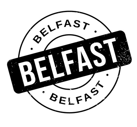 old english: Belfast rubber stamp Illustration