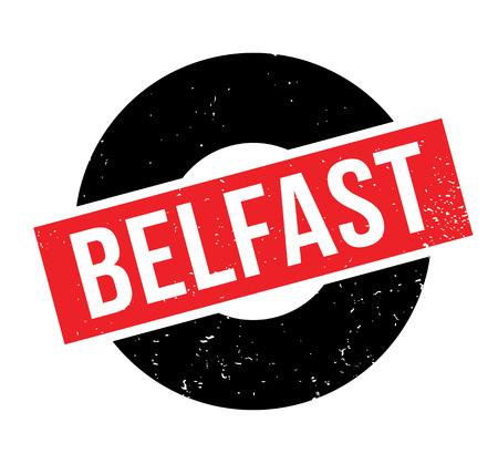 great: Belfast rubber stamp Illustration