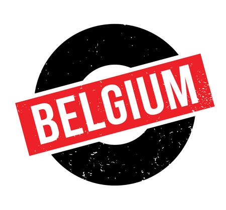 Belgium rubber stamp Illustration