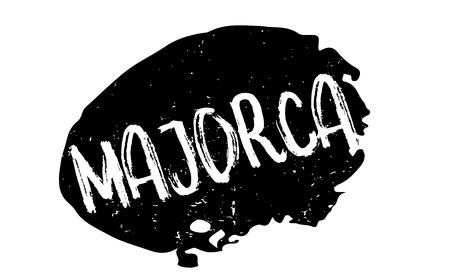 Majorca rubber stamp Ilustração