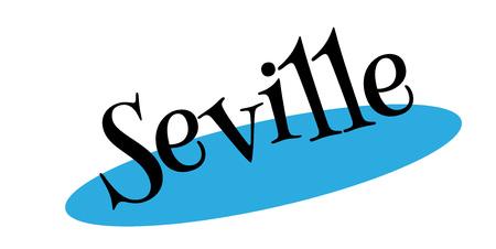 Seville rubber stamp Фото со стока - 85716090