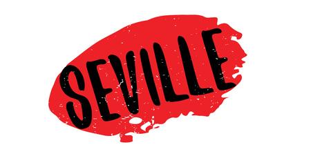 Seville rubber stamp Фото со стока - 85716242