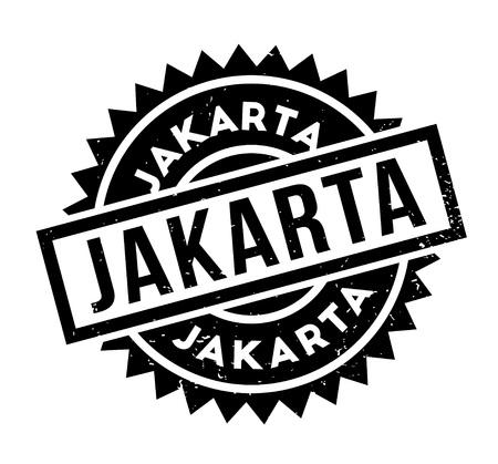 Jakarta rubber stamp. Illustration