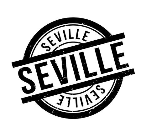 Seville rubber stamp Фото со стока - 85754471