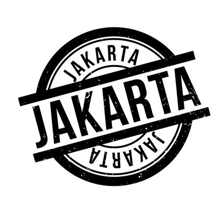 Jakarta rubber stamp Illustration