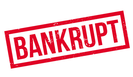 Bankrupt rubber stamp Stock Photo