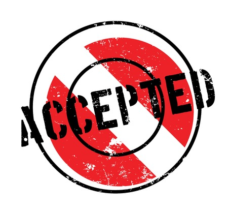 Accepted rubber stamp Stock Photo