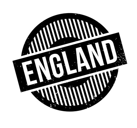 old english: England rubber stamp. Illustration