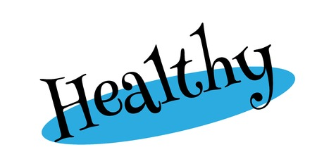 Healthy rubber stamp Illustration