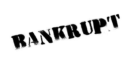 Bankrupt rubber stamp Illustration