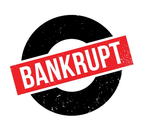 Bankrupt rubber stamp Illustration