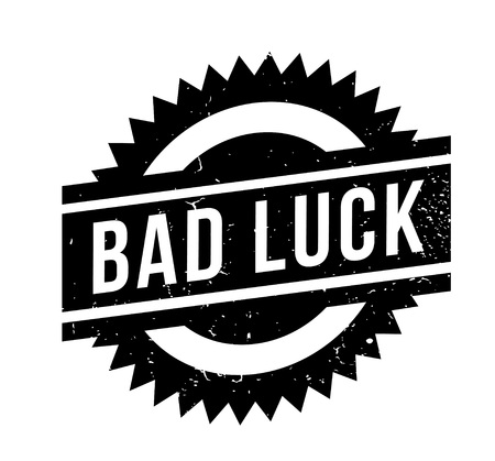 Bad Luck rubber stamp