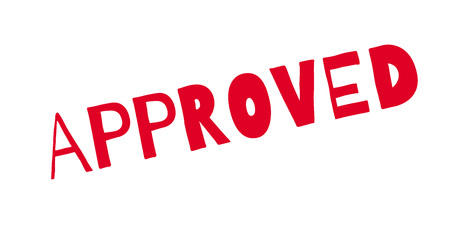 allowed to pass: Approved rubber stamp