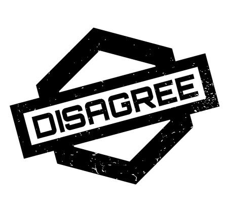 Disagree rubber stamp