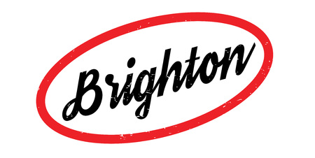 old english: Brighton rubber stamp