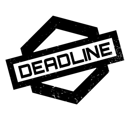 Deadline rubber stamp