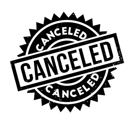 Canceled rubber stamp
