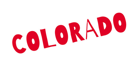 Colorado rubber stamp Stock Vector - 85819221