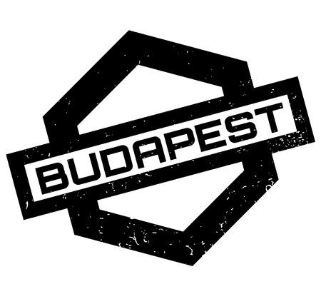 Budapest rubber stamp Illustration
