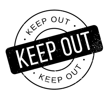 Keep Out rubber stamp Stock Vector - 86177742