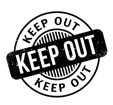 Keep Out rubber stamp Stock Vector - 86177746
