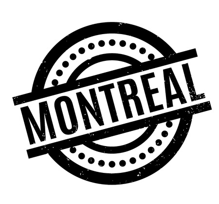 Montreal rubber stamp Illustration