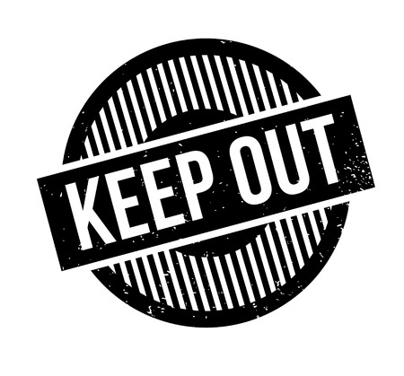 Keep Out rubber stamp Stock Vector - 85997029