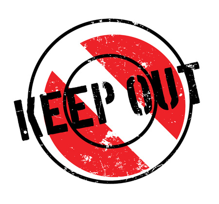 Keep Out rubber stamp Stock Vector - 85997045