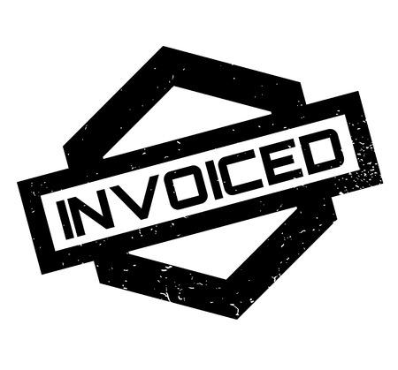 Invoiced rubber stamp Ilustração