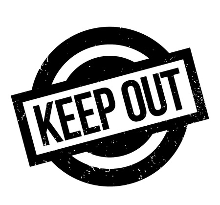 Keep Out rubber stamp Stock Vector - 86177912