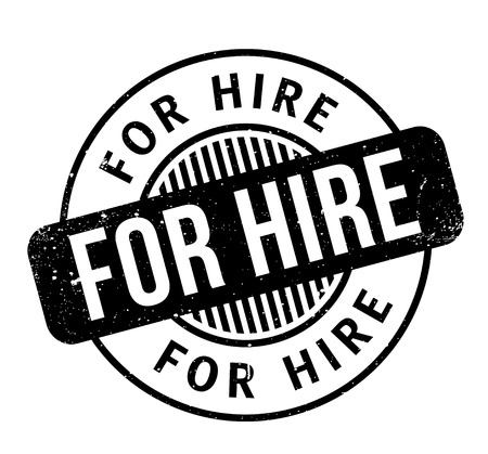 For Hire rubber stamp Illustration