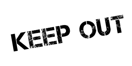 Keep Out rubber stamp Stock Vector - 86177959