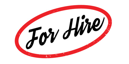 For Hire rubber stamp Ilustrace