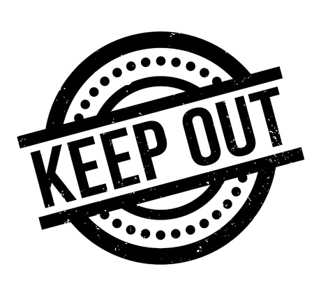 Keep Out rubber stamp Stock Vector - 86177979