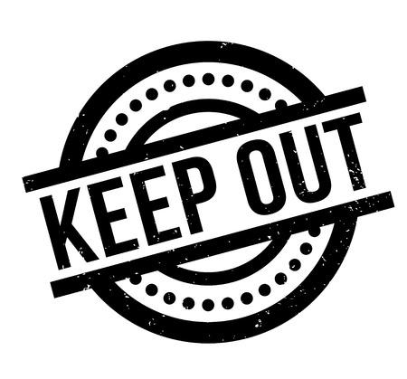 Keep Out rubber stamp Ilustração Vetorial