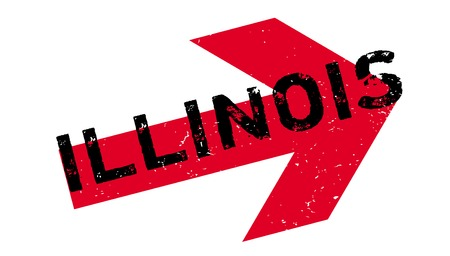 Illinois rubber stamp Иллюстрация