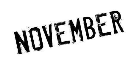 November rubber stamp Illustration