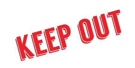 Keep Out rubber stamp Illustration