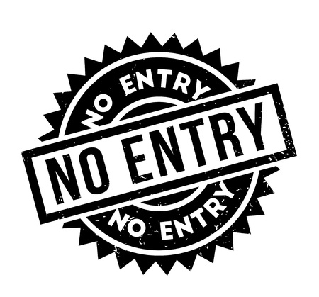 unavailable: No Entry rubber stamp. Grunge design with dust scratches. Effects can be easily removed for a clean, crisp look. Color is easily changed.