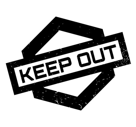 Keep Out rubber stamp Stock Photo