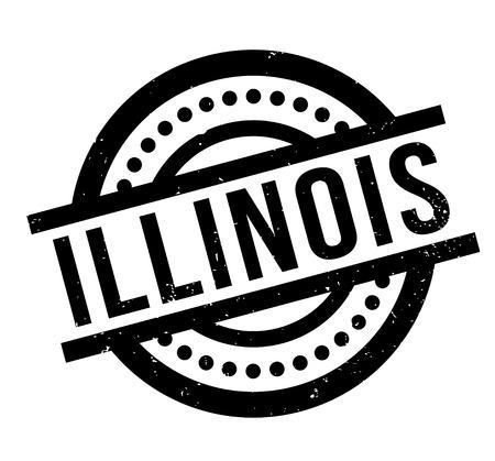 Illinois rubber stamp Illustration