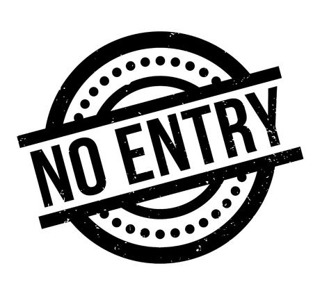 No Entry rubber stamp. Illustration