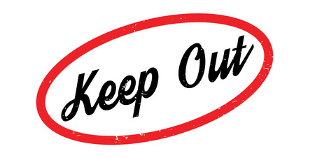 Keep Out rubber stamp Stock Vector - 86054437