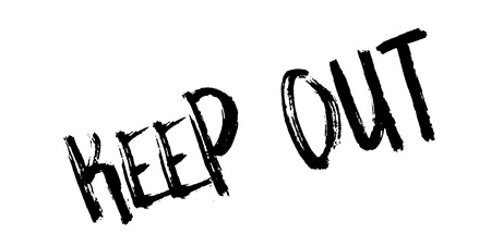Keep Out rubber stamp Stock Vector - 86054445