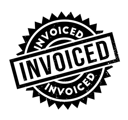 Invoiced rubber stamp Illustration
