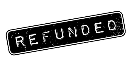 Refunded rubber stamp 免版税图像