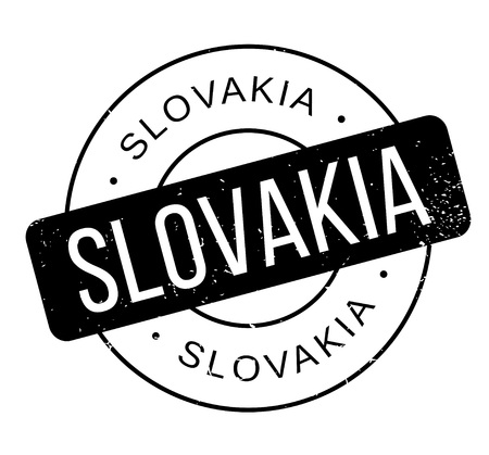 Slovakia rubber stamp Ilustrace