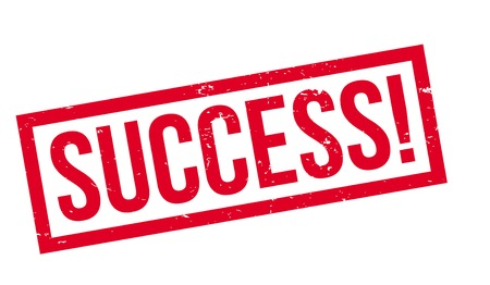 Success rubber stamp
