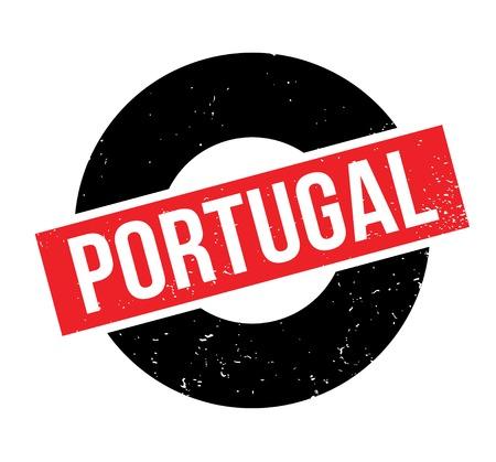 Portugal rubber stamp 矢量图像